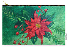 Carry-all Pouch featuring the painting Poinsettia by Lucia Grilletto
