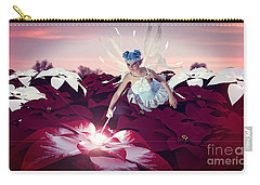 Poinsettia Snow Fairy Carry-all Pouch by Methune Hively