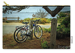 Carry-all Pouch featuring the photograph Point Lobos Bicycles by Craig J Satterlee
