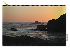 Carry-all Pouch featuring the photograph Point Lobos Sunset by David Chandler