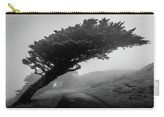 Point Reyes Fog Black And White Carry-all Pouch