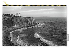 Point Vicente Lighthouse Palos Verdes California - Black And White Carry-all Pouch