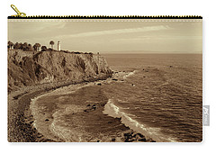 Point Vicente Lighthouse Palos Verdes California - Sepia Rendition Carry-all Pouch