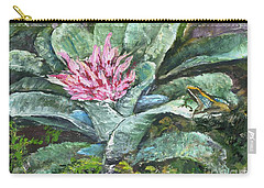 Poison Dart Frog On Bromeliad Carry-all Pouch