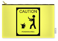 Carry-all Pouch featuring the digital art Pokemon Area by Shane Bechler