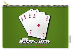 Poker Of Aces - Four Aces Carry-all Pouch