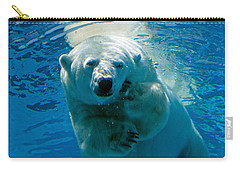 Carry-all Pouch featuring the photograph Polar Bear Contemplating Dinner by John Haldane