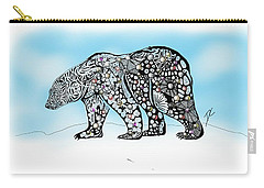 Polar Bear Doodle Carry-all Pouch
