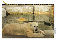 Polar Bear Poolside Carry-all Pouch by Suzanne Luft