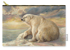 Polar Bear Rests On The Ice - Arctic Alaska Carry-all Pouch by Svitozar Nenyuk
