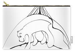 Polar Bear Symbol Carry-all Pouch