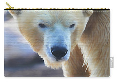 Polar Bear Wooden Texture Carry-all Pouch by Dan Sproul