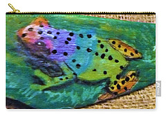 Polka-dotted Rainbow Frog Carry-all Pouch