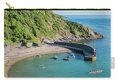 Polkerris Beach And Harbour Carry-all Pouch by Hazy Apple