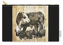 Polled Hereford Bull 11 Carry-all Pouch