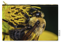 Carry-all Pouch featuring the photograph Pollen Collector  by Jay Stockhaus