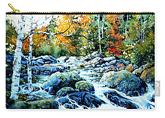Carry-all Pouch featuring the painting Polliwog Clearing by Hanne Lore Koehler