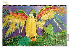 Polly Wants More Than A Cracker Carry-all Pouch by Rosemary Aubut