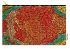 Pomegranate Blossom Abstract Carry-all Pouch