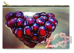 Carry-all Pouch featuring the digital art Pomegranate Heart by Genevieve Esson