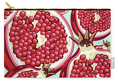 Pomegranate   Carry-all Pouch by Mark Ashkenazi
