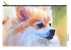 Pomeranian Portrait Carry-all Pouch by Jai Johnson