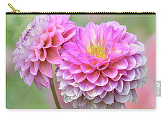 Carry-all Pouch featuring the photograph Pompon Dahlias by John Poon