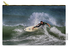 Carry-all Pouch featuring the photograph Ponce Surfer 2017 by Deborah Benoit