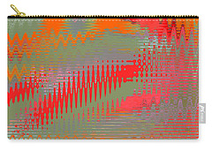 Carry-all Pouch featuring the digital art Pond Abstract - Summer Colors by Ben and Raisa Gertsberg
