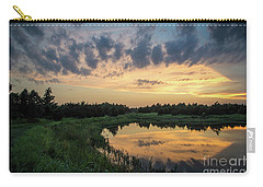 Pond And Sunset Carry-all Pouch
