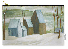 Pond Farm In Winter Carry-all Pouch