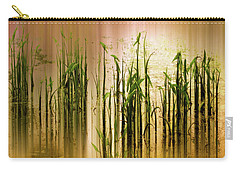 Carry-all Pouch featuring the photograph Pond Grass Abstract   by Jessica Jenney