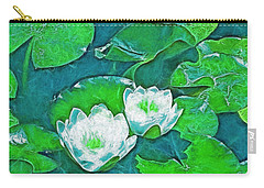 Carry-all Pouch featuring the photograph Pond Lily 2 by Pamela Cooper
