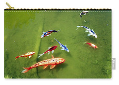 Pond With Koi Fish Carry-all Pouch by Joseph Frank Baraba