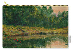 Pond With Spider Lilies Carry-all Pouch