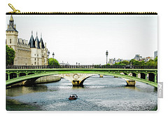 Pont Au Change Over The Seine River In Paris Carry-all Pouch