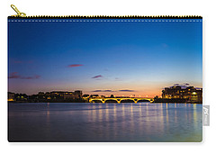 Carry-all Pouch featuring the photograph Pont Des Catalans And Garonne River At Night by Semmick Photo