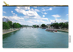 River Seine At Pont Du Carrousel Carry-all Pouch