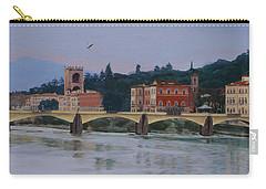 Pont Vecchio Landscape Carry-all Pouch by Lynne Reichhart