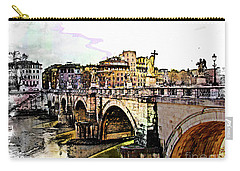 Ponte San Angelo, Rome, Italy Carry-all Pouch