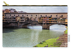 Carry-all Pouch featuring the photograph Ponte Vecchio Florence Italy II by Joan Carroll