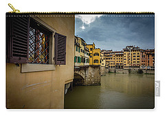 Carry-all Pouch featuring the photograph Ponte Vecchio by Sonny Marcyan