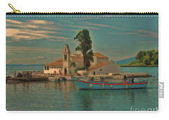 Carry-all Pouch featuring the photograph Pontikonisi Corfu by Leigh Kemp