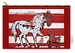 Pony And Pup Carry-all Pouch by Larry Campbell