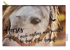 Pony At Sunset Quote Carry-all Pouch