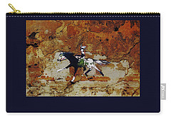 Pony Express Rider Carry-all Pouch by Larry Campbell