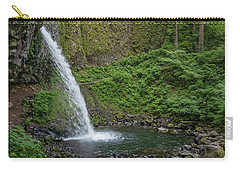 Carry-all Pouch featuring the photograph Ponytail Falls by Greg Nyquist