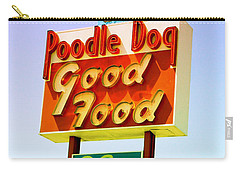 Poodle Dog Diner Carry-all Pouch by Kathleen Grace