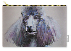 Poodle In Blue Carry-all Pouch