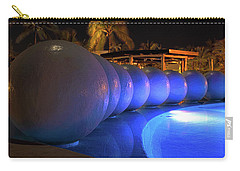 Carry-all Pouch featuring the photograph Pool Balls At Night by Shane Bechler